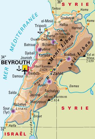 Connaitre le liban par la carte