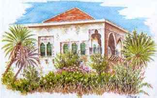 Amchit au liban village charme pr s byblos ernest renan for Architecture maison traditionnelle libanaise