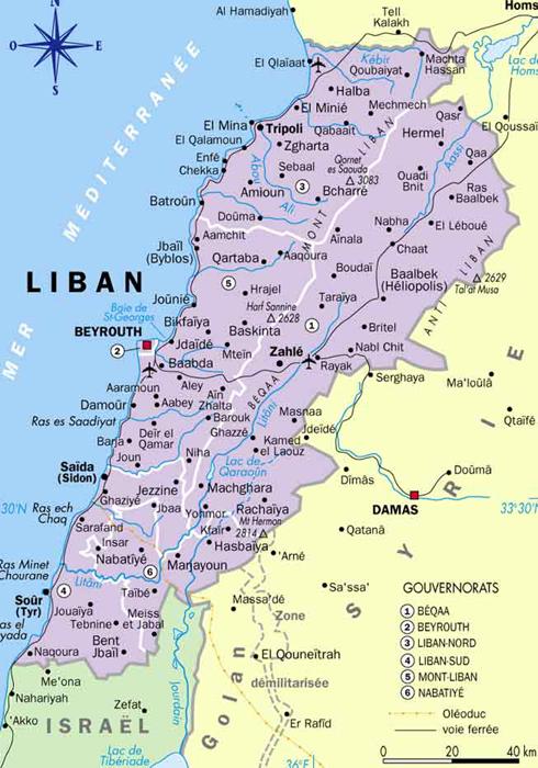 [✔] République libanaise  Carte_liban-admin